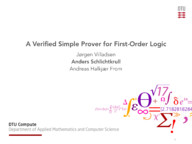 A Verified Simple Prover for First-Order Logic