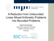 A Reduction from Unbounded Linear Mixed Arithmetic Problems into Bounded Problems