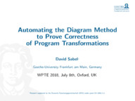 Automating the Diagram Method to Prove Correctness of Program Transformations