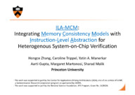 ILA-MCM: Integrating Memory Consistency Models with Instruction-Level Abstraction for Heterogeneous System-on-Chip Verification