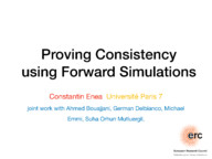 Proving Consistency using Forward Simulations