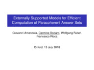 Externally Supported Models for Efficient Computation of Paracoherent Answer Sets