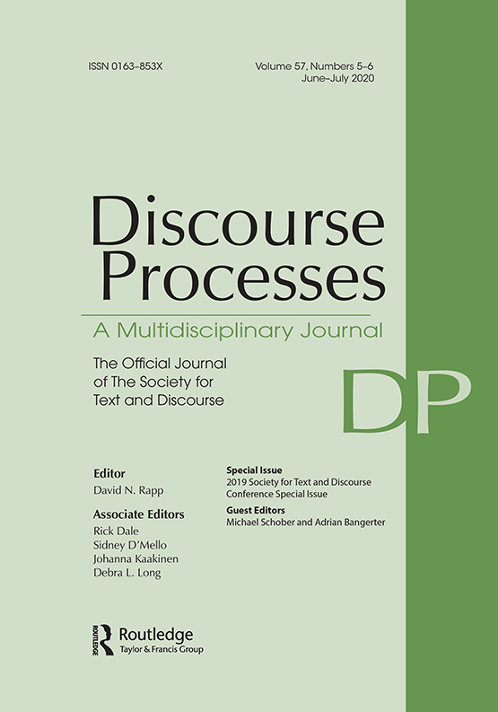 Cover of Discourse Processes